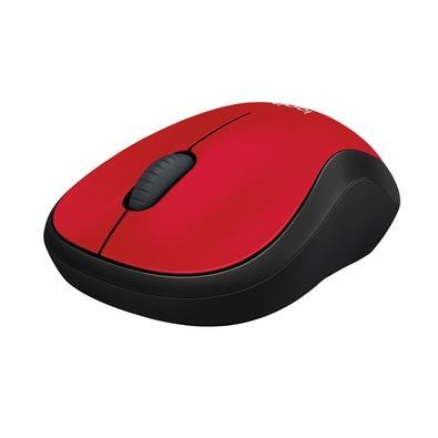Mouse sem fio Logitech M185 com Design Ambidestro Compacto, Conexão USB e Pilha Inclusa, Vermelho - 910-003635