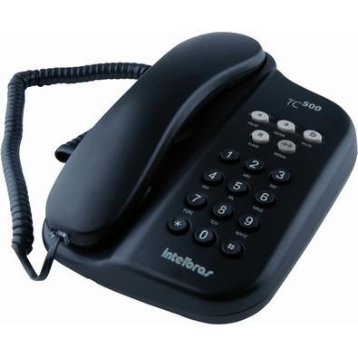 Telefone Intelbras com Fio TC500 Preto