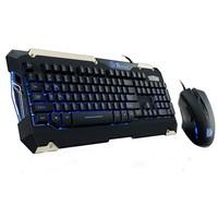 Kit Gamer Thermaltake TT Sports Commander - Teclado LED Azul, ABNT2 + Mouse LED Azul - KB-CMC-PLBLPB-01