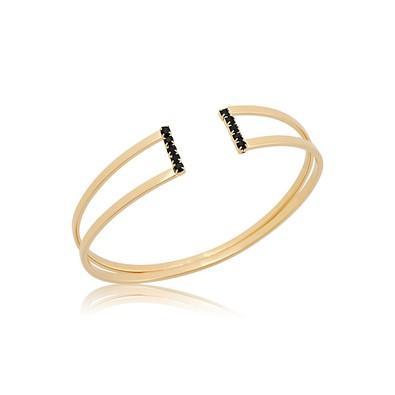Bracelete com Strass Negro e Ouro Negro - BC0471