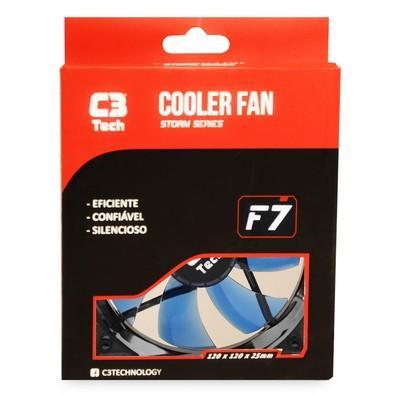 Cooler FAN C3 Tech F7-L100 BL Storm 12cm LED C3T