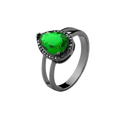 Anel Verde Esmeralda Tamanho 18 - MT067