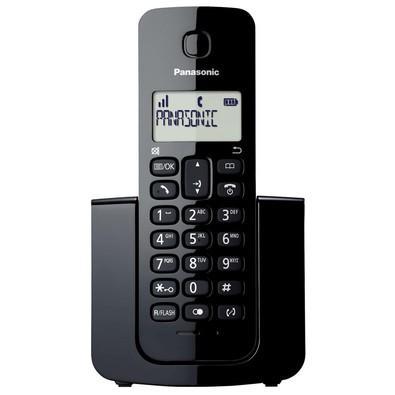 Telefone Panasonic Sem Fio Dect 6.0 com ID de Chamadas, 1.9Ghz, Preto - KX-TGB110LBB