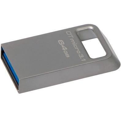 Pen Drive Kingston DataTraveler USB 3.1 Ultrapequeno 64GB - DTMC3/64GB