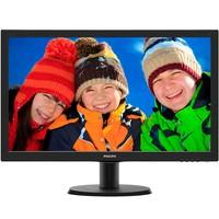 Monitor Philips LED 23.6´ Widescreen, Full HD, HDMI/VGA/DVI, Som Integrado - 243V5QHABA