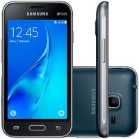 Smartphone Samsung Galaxy J1 Mini Duos SM-J105B/DL, Quad Core 1.2 Ghz, Android 5.1, Tela 4´, 8GB, 5 MP,  3G, Desbloqueado - Preto