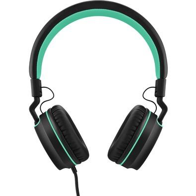 Headphone Pulse On Ear Stereo Preto/Verde - PH159