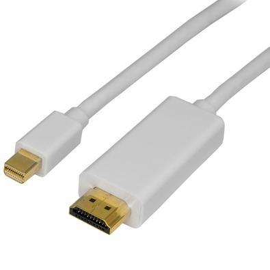 Cabo MD9 Mini DisplayPort M X HDMI M, 1.80m, Branco - 7559