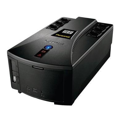 Nobreak WEG Personal 600VA, TE Bivolt - TS 115V c/ 1 Bateria Selada VRLA de 7Ah 12587905