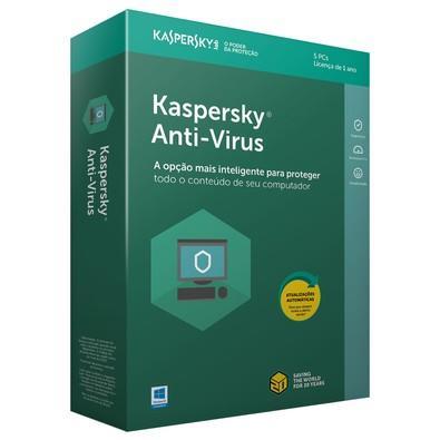 Kaspersky Antivírus 2018 5 PCs