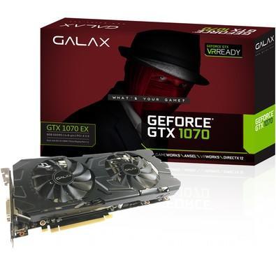 Placa de Vídeo Galax NVIDIA GeForce GTX 1070 EX 8GB, GDDR5 - 70NSH6DHL4XE