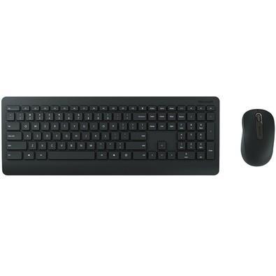 Teclado e Mouse Sem Fio Microsoft Multimídia Desktop 900 - PT300005