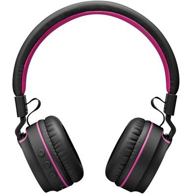 Headphone Pulse Fun Bluetooth PH216 Preto e Rosa