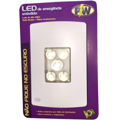 Luminária de Emergência PW LED 4x2 5L Biv Liso 305