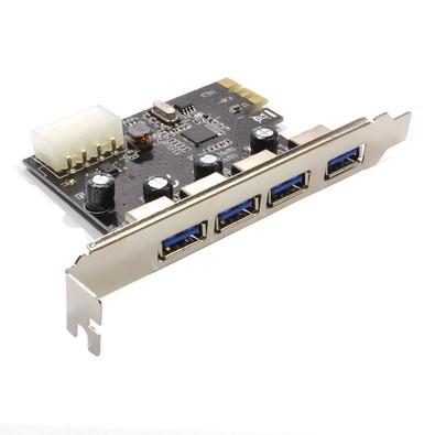 Placa Empire PCI-Express 4 Portas USB 3.0 - DP-43