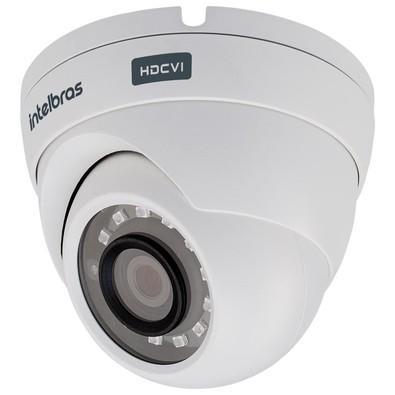 Câmera Dome Intelbras, Sensor 1/4 MP CMOS, HDCVI, IR 20m, 2.8mm, HD 720p, 12VCC, Branca - VHD 3120 D G3