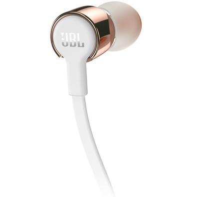 Fone de Ouvido Intra Auricular JBL T210 Branco e Rosê Gold