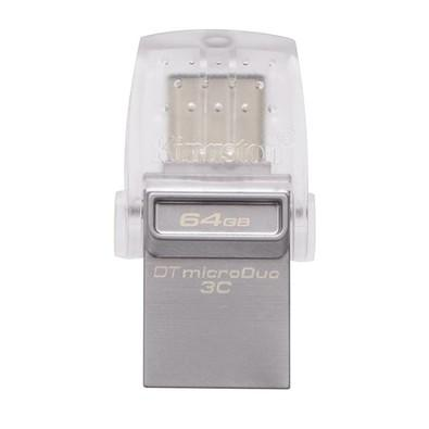 Pen Drive Kingston DataTraveler USB 3.1 Interface Dupla Portas USB A e USB C 64GB - DTDUO3C/64GB