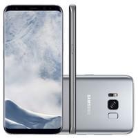 Smartphone Samsung Galaxy S8 Plus G955FD, Octa Core 2.3Ghz, Android 7.0, Tela 6.2, 64GB, 12MP Dual Pixel, 4G, Desbl - Prata
