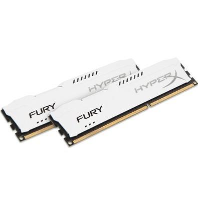 Memória Kingston HyperX FURY 32GB (2x16GB) 2133Mhz DDR4 CL14 White - HX421C14FWK2/32