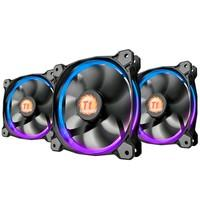 Cooler FAN Thermaltake RIING 12cm Radiator FAN 256 com 3 LED Switch CL-F042-PL12SW-B