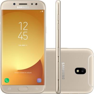 Smartphone Samsung Galaxy J5 Pro Sm-j530g/ds, Octa Core, Android 7.0, Tela 5.2´, 32gb, 13mp Frontal C/ Flash, Dual Chip, Desbl - Dourado