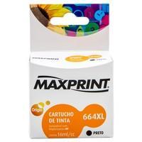 Cartucho de Tinta Maxprint 664XL para HP, Preto - F6V31A