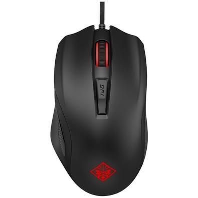 Mouse Gamer HP 12000DPI 6 botões Preto Omen 600