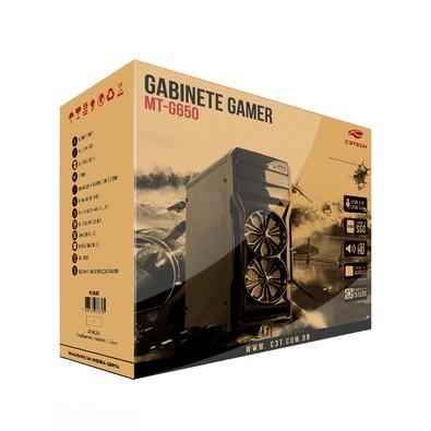 Gabinete C3Tech Gamer sem Fonte MT-G650BK