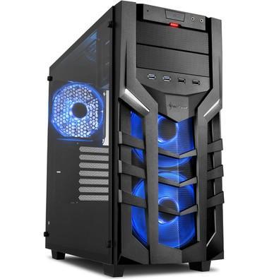 Gabinete RGB Sharkoon ATX com vidro lateral temperado - DG7000-G RGB