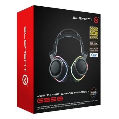 Headphone Gamer Element G RGB, USB - G550
