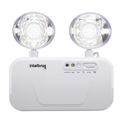 Luminária de Emergência Intelbras 1200 Lumens 2 Faróis LED Bivolt - BLA 1200 4631200