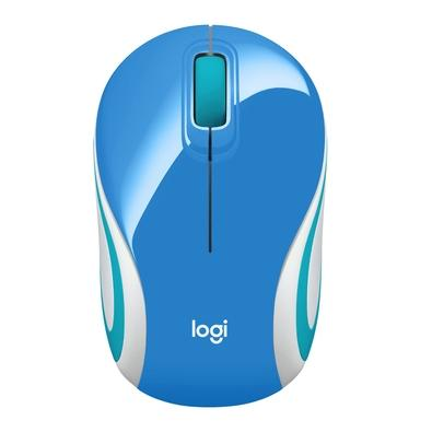 Mouse Wireless Óptico Led 1000 Dpis M187 Azul 910-005360 Logitech