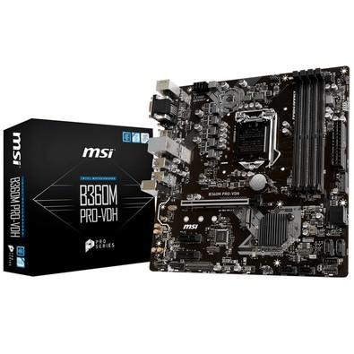 Placa-Mãe MSI B360M Pro-VDH, Intel LGA 1151, mATX, DDR4
