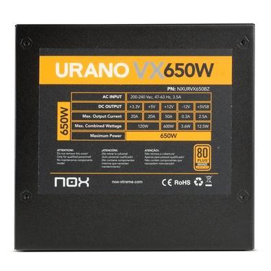 Fonte Nox Urano 650W, 80 Plus Bronze, 230V - NXURVX650BZ