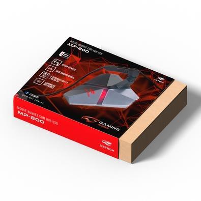 Mouse Bungee C3 Tech com LED USB 2.0, H04 - MB-200