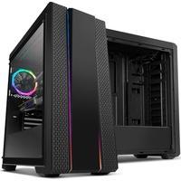 Gabinete NOX HUMMER FUSION, Lateral em Vidro Temperado, Faixas de iluminação RGB Rainbow, 1 FAN RGB, Controlador de FAN e RGB NXHUMMERFSN
