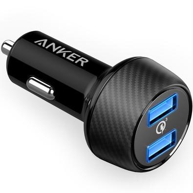 Carregador Veicular Anker Power Drive Speed, 2 Portas USB, 5V/4,8A, Preto -  11132035