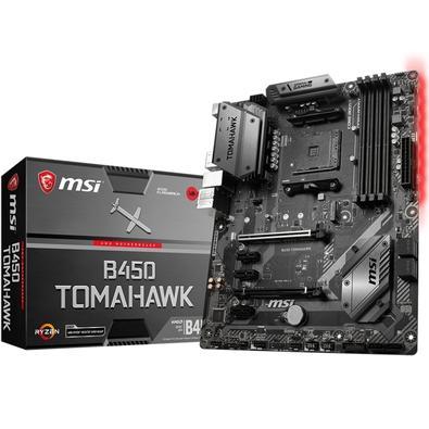 Placa-Mãe MSI B450 Tomahawk, AMD AM4, ATX, DDR4