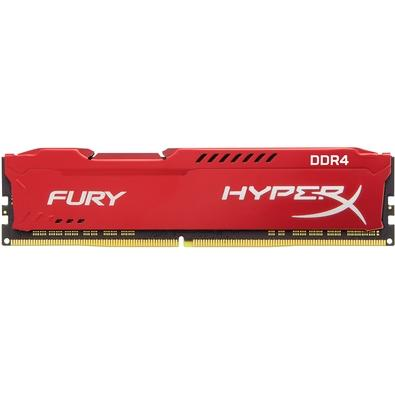Memória HyperX Fury, 8GB, 3466MHz, DDR4, CL19, Vermelho - HX434C19FR2/8