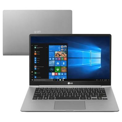 Notebook LG Gram, Intel Core i5-8250U, 8GB, SSD 256GB, Windows 10 Home, 14´ - 14Z980-G.BH51P1