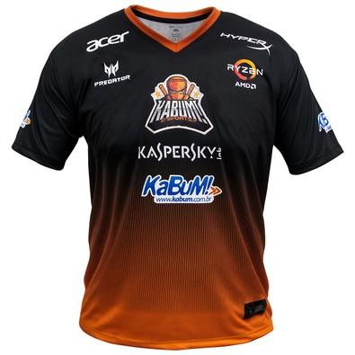 Camiseta Uniforme Oficial KaBuM! e-Sports 2018, Orange Ninja, Dry-Fit, Tamanho G