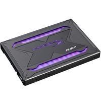 SSD HyperX Fury RGB, 480GB, SATA, Leitura 550MB/s, Gravação 480MB/s - SHFR200/480G