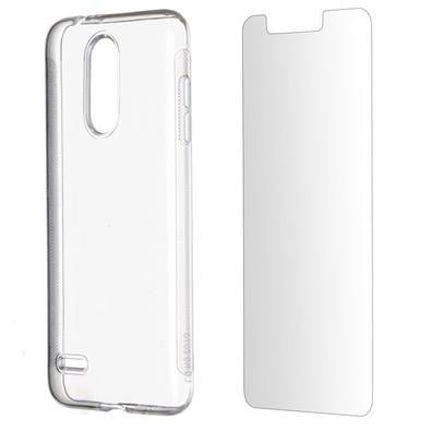 Kit 2 em 1 Celular Mart - Película de Vidro e Capa TPU Transparente Liso para LG K9