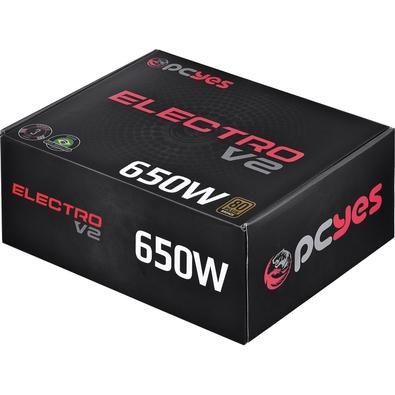 Fonte PCYes Electro V2 650W, 80 Plus Bronze - ELECV2PTO650W