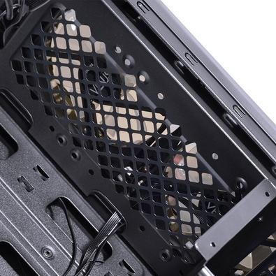 Gabinete Gamer PCYes Venus sem Fonte, Mid Tower, USB 3.0, 2 Fans LED Vermelho, Preto com Lateral em Acrílico - VENPTVM2FCA