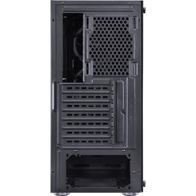 Gabinete Gamer PCYes Jupiter sem Fonte, Mid Tower, USB 3.0, 3 Fans LED RGB, Preto com Lateral e Frontal em Vidro - JUPPT7C3FCV