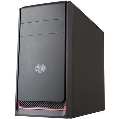 Gabinete Gamer Cooler Master MasterBox E300L sem Fonte, Mini Tower, USB 3.0, Preto e Vermelho - MCB-E300L-KN5N-B00