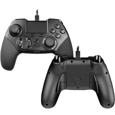 Controle Gaming Pad com Fio Kaiser Elite NOX Krom PS4, PS3, PC - NXKROMKSR