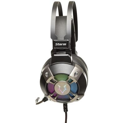 Headset Gamer Husky Storm, USB, 7.1 Surround, Driver 50mm, Rainbow - HS-HST-RA